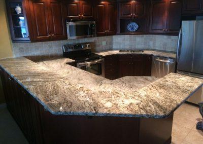 modern kitchen granite counter