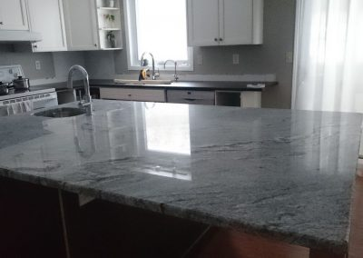 grey stone countertop in belleville