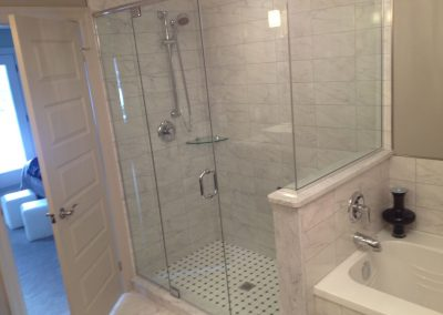 Granite tiled shower in belleville